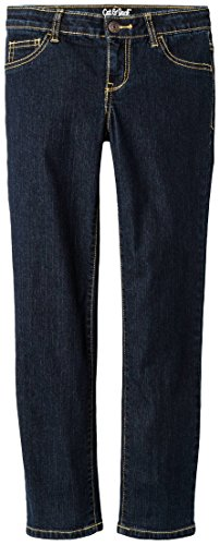 Cat & Jack Girls' Skinny Jeans With Adjustable Waist (Dark Blue, - The Cat Skinny