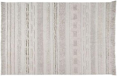 Lorena Canals Alfombra Lavable Air Natural Pila: Algodón Natural Base: algodón reciclado -Beige- 300x200 cm: Amazon.es: Hogar