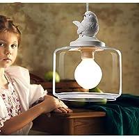 Single Glass Bird Pendant Lamp Nordic Creative Restaurant Pendant Light