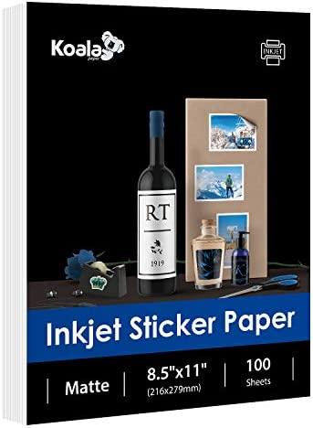 Koala 10 Sheets 8.5x11 Inkjet WHITE Waterslide Decal Transfer Paper Custom Label