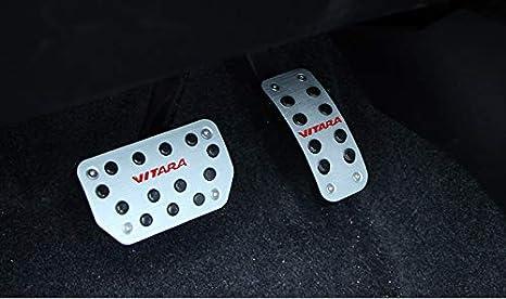Aluminiumlegierung Bremspedal Pedale F/ür Vitara Pedale Fu/ßrasten Abdeckung Zubeh/ör black