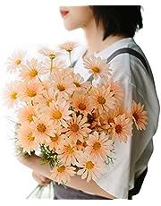 Anjetan Artificial Flower Daisy Plastic 6PCS Faux Flower Fake Flower Home Decor Garden Decor