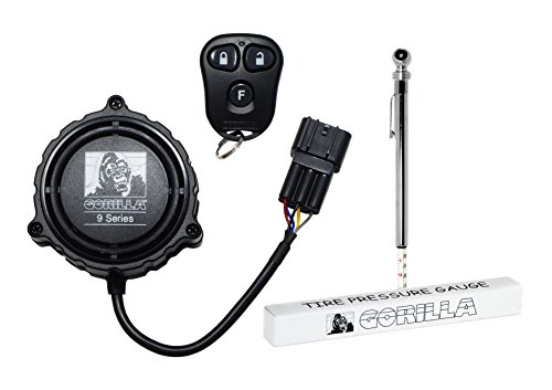 Gorilla Automotive Products 9000TG Compact Cycle Alarm with Tire Pressure Gauge