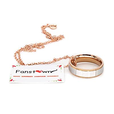 Fanstown Kpop NCT U NCT 127 NCT Dream Finger Ring Engraved Double Deck Ring Member Name and Team Logo Design Rose Golden Necklace: Toys & Games
