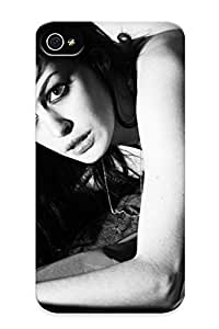 Cute High Quality Iphone 4/4s Anne Hathaway Actress Women Females Girls Sexy Babes Face Eyes Black White Face Eyes Monochrome Case