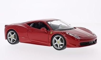 Ferrari 458 Italia, Red, Model Car, Ready Made, Bburago 1:24