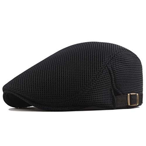 y Newsboy Hat Cap for Men 20s Gentlemen Costume Accessory for 1920s Gatsby Party (Black) ()