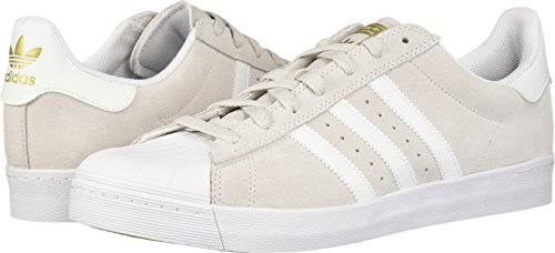 adidas Skateboarding Unisex Superstar Vulc ADV Grey One/Footwear White/Gold Metallic 12 M US