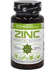 Zinkcitrat | 50 mg x 80 kapslar (zink från zinkcitrat 15 mg) | 80 dagars leverans | Tillägg till immunsystemstöd | Höghållfasta zinkkapslar av Cvetita Herbal