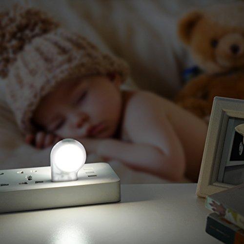 LEDGLE LED Motion Sensor Night Lights Dusk-to-Dawn Sensor, Bedroom, Bathroom, Kitchen, Hallway, Stairs, Energy Efficient, Compact,4-Pack