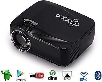 Mini proyector portátil, de bolsillo portátil LED Proyector video con el sistema Android 4.4 HDMI VGA