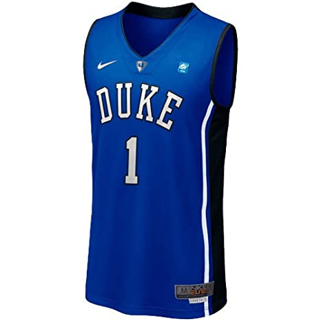 bcaa0f5b01b Amazon.com   Nike Duke Blue Devils  1 Titanium Elite Aerographic Tackle  Twill Basketball Performance Jersey-Duke Blue (XX-Large)   Sports Fan  Jerseys ...