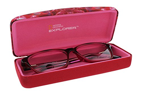 National Geographic Kaleidoscope Hard Eyeglasses Case For Women And Men In Dark Pink