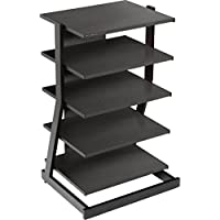 Audio Stand w 5 Shelves in Black Oak Finish