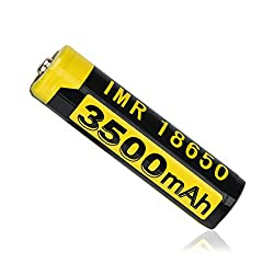Eve.Raun 1Pc Button Top 18650 Batteries 3.7V 3500mAH High-Capacity Lithium Rechargeable Battery for LED Lights/Toys/MP3/TV Remote Controls/Alarm Clocks/Flashlight Torch/not aa Battery