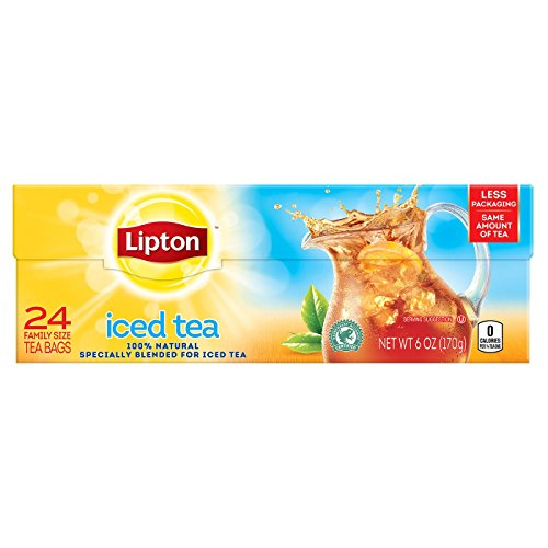 - Lipton Iced Tea Family Size Tea Bags - 24 CT