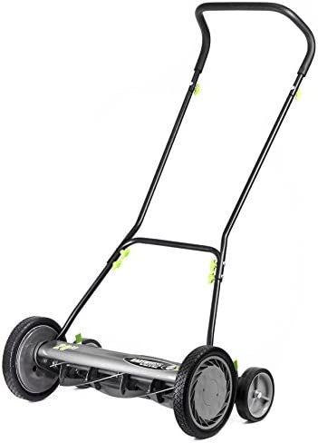 Earthwise 2001-20EW 20-Inch 5-Blade Push Reel Lawn Mower, Grey