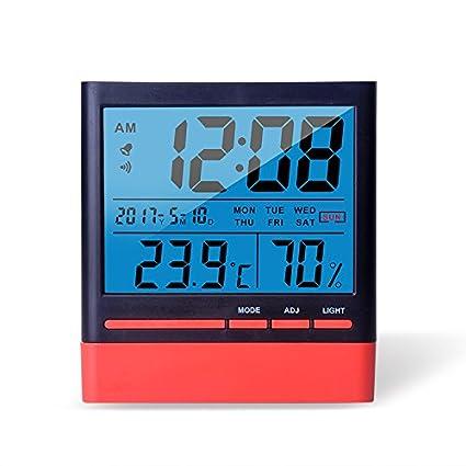 Anseny Termómetro digital LCD con luz de fondo, temperatura (C/F -50C