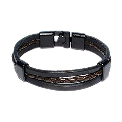 AUTHENTIC HANDMADE Leather Bracelet, Men Women Wristbands Braided Bangle Craft Multi [SKU003071]
