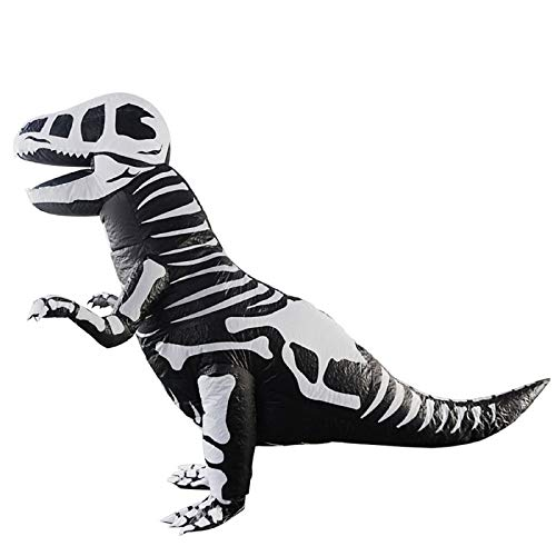 Inflatable Clothing t-rex Dinosaur Tyrannosaurus Costumes Christmas,Halloween Cosplay Clothes for Adult (Skeleton) ()