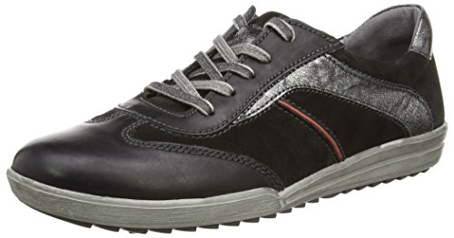 Josef Seibel Dany 42, WoMen Low-Top Sneakers Black (661 Schwarz/Kombi)