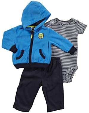 Carter's Boys Sizes NB-24 Months My Mommy is the Best 3 Piece Microfleece Hooded Set