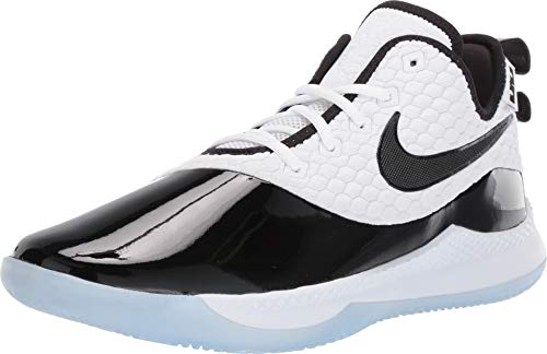 Nike Men's Lebron Witness III PRM Basketball Shoe (7.5 M US, White/Black/Half Blue)