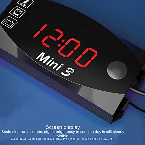 3 In 1 Voltmeter Uhr Thermometer Anzeige Fornorm 12 V Digital Led Anzeige Meter Gauge Panel Meter Für Auto Motorrad Auto