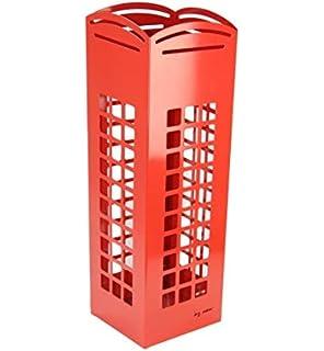 DonRegaloWeb - Paragüero de metal con forma de cabina roja londinense