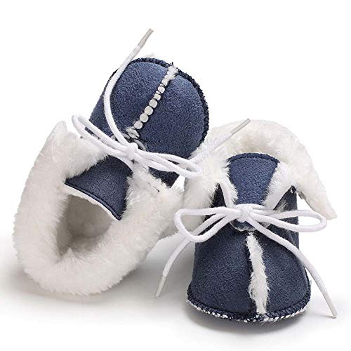 Pictures of Fnnetiana Baby Soft Sole Anti-Slip Winter Blue 3