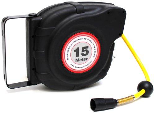 Dema 53998 - Enrollador de mangueras para compresor (15 m) [Importado de Alemania]