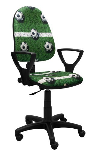 Best For Kids Kinderschreibtischstuhl Jugend-Bürostuhl Kinder-Drehstuhl Super f Farben Design Fußball Football Graffiti Ergo (GRÜN)