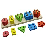 DMbaby Toys for 2-4 Year Old Boys Girls, Classic Educational Wooden Toy Set Toys for Toddlers Toys for Kids 2-5 Years Old Gifts for 2-5 Year Old Boys Girls DMbabyUKDMJM05
