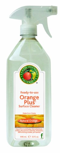 Earth Friendly Kitchen Tool - Earth Friendly Products Orange Plus Ready-to-Use Surface Cleaner, 32-Ounce Bottle (Pack of 6)