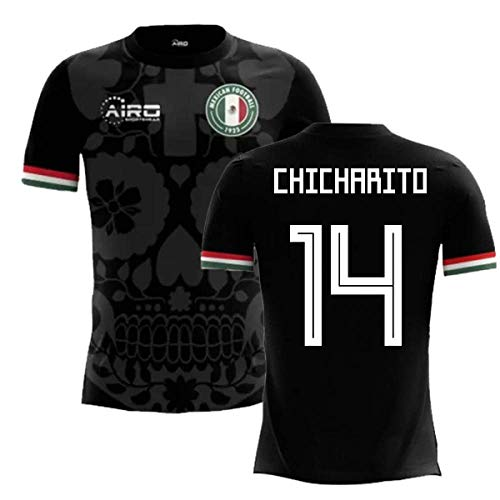- Airosportswear 2018-2019 Mexico Third Concept Football Soccer T-Shirt Jersey (Javier Hernandez 14) - Kids
