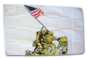 Iwo Jima–3'x 5' Polyester bandera de Militar