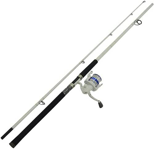 Eagle Claw Surf Beast Medium Spin Combo 2 Piece (White, 10-Feet)