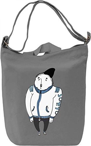 Russian guy Borsa Giornaliera Canvas Canvas Day Bag  100% Premium Cotton Canvas  DTG Printing 