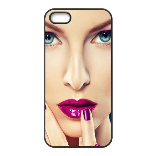 Girl Blue Eyes Make Up Face 92153 coque iPhone 4 4S cellulaire cas coque de téléphone cas téléphone cellulaire noir couvercle EEEXLKNBC25293