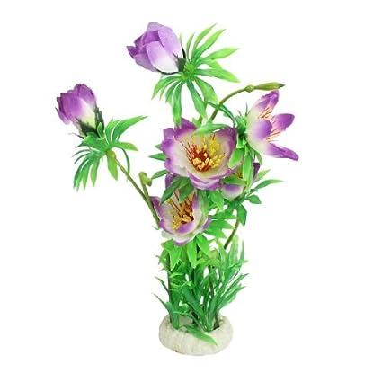 eDealMax Hoja de plástico Flor de Nylon planta de acuario Decoración/Hierba, 12.2 pulgadas