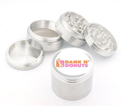 Dank N' Donuts Design Medium Size 4pcs Aluminum Herbal or Tobacco Grinder #G50-8715-1