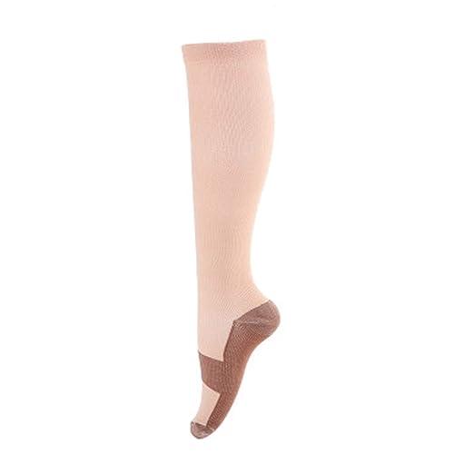 a70aa42be YJYdada Compression Sock Women Men Sports Travel Shin Splints Below Knee  High Sock (S