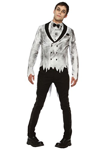 [Mens Plus Size Zombie Groom Costume - 2X] (Dead Groom Costume)