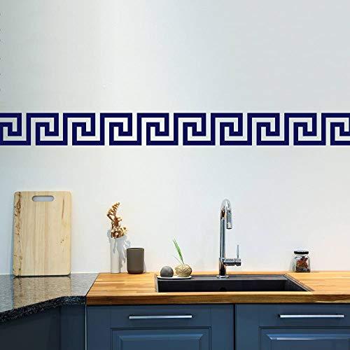 (Littledollz Greek Key Wall Stickers Set of 50 Greek Pattern Wall Pattern Wall Decals Wall Border Geometric Pattern Home Decor Mediterranean 5.9