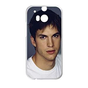 HTC One M8 Cell Phone Case White he72 ashton kucher actor man face W6I3KI