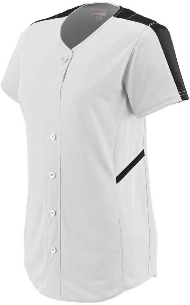 Augusta SportswearレディースCloser Softball Jersey B00P53WEYCホワイト/ブラック Small