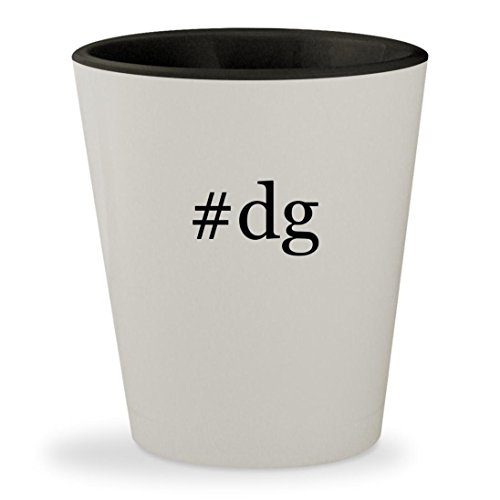 #dg - Hashtag White Outer & Black Inner Ceramic 1.5oz Shot - Sunglasses Dgs