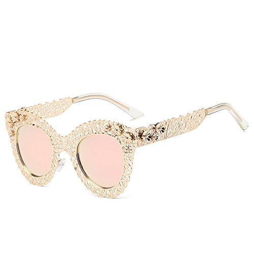 Ojo para de Gafas Mujer Gafas Sol Estilo Encaje de de Gafas de B C Retro Sol Color Gato SYAODU de Encaje Gafas Sol xCp0Iw
