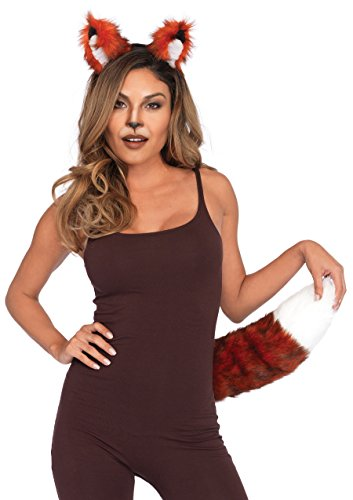 Fox Halloween Costumes (Leg Avenue Women's 2 Pc Fox Costume Accessory Kit, Brown, One-Size)