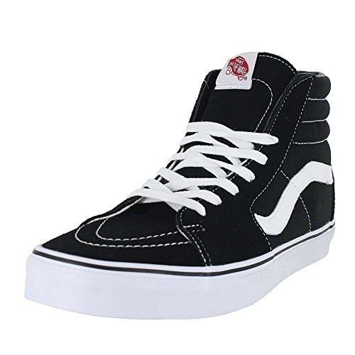 (Vans Unisex Sk8-Hi Black/Black/White Skate Shoe 11 Men US)